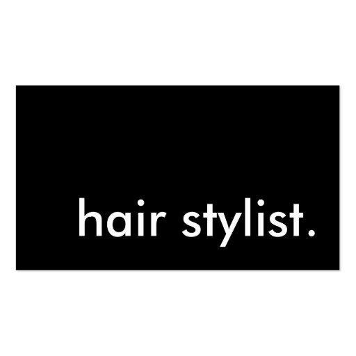 Hair stylist zazzle for Salon business cards templates