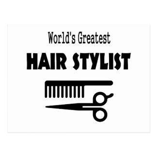 Hair Stylist Card Post Cards