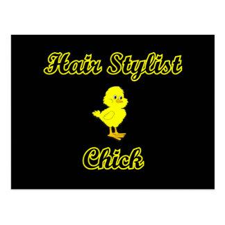 Hair Stylist Chick Postcard