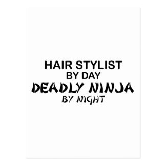 Hair Stylist Deadly Ninja by Night Postcard