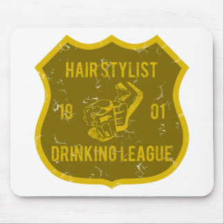 Hair Stylist Drinking League Mouse Pad