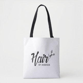 Hair Stylist Elegant Script Hair Salon Tote Bag