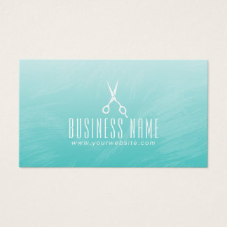 Hair Stylist Elegant Watercolor Green Appointment Business Card