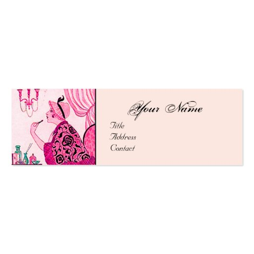 Hair Stylist Fashion Beauty Salon Make Up Artist Pack Of Skinny Business Cards Zazzle