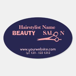 Hair Stylist  Fashion Beauty Salon & Spa Oval Sticker
