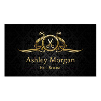 Hair Stylist Gold Scissors Hair Salon Appointment Pack Of Standard Business Cards