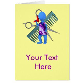 Hair Stylist Greeting Card