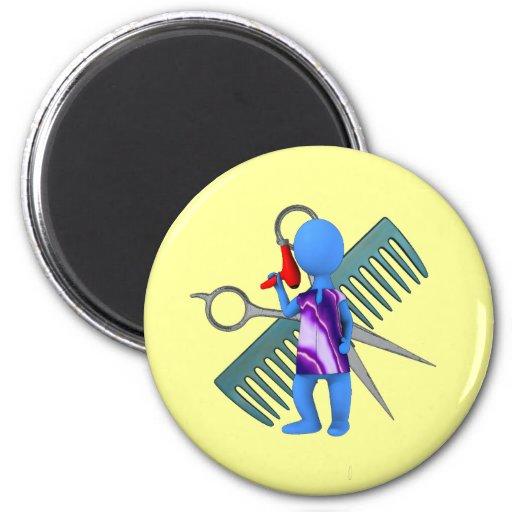 Hair Stylist Refrigerator Magnet