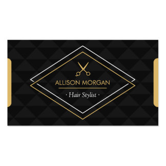 Hair Stylist Modern Abstract Geometric Appointment Pack Of Standard Business Cards