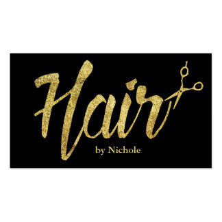 Hair Stylist Modern Gold Script Salon Appointment Pack Of Standard Business Cards