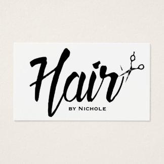 Hair Stylist Modern Script Salon Appointment