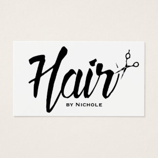 Hair Stylist Modern Script Salon Appointment Business Card
