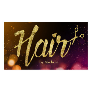 Hair Stylist Modern Sparkle Lights Appointment Pack Of Standard Business Cards