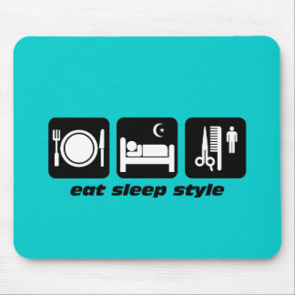 Hair stylist mouse pad