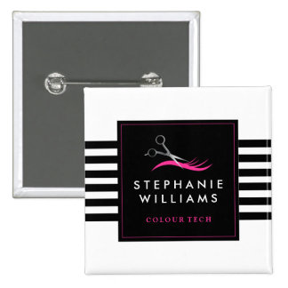 Hair Stylist Name Tag 15 Cm Square Badge