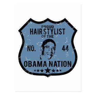 Hair Stylist Obama Nation Postcard