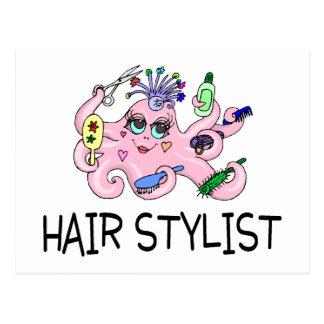 Hair Stylist Octopus Postcard