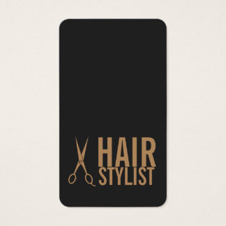Hair Stylist - Pale Gold Scissors Business Card
