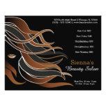 Hair stylist personalised flyer