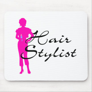Hair Stylist (Pink) Mouse Pad