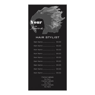 Hair Stylist Rack Card
