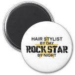 Hair Stylist Rock Star by Night 6 Cm Round Magnet