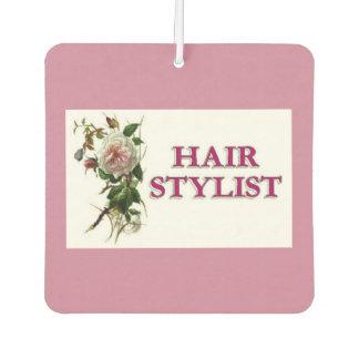 Hair Stylist Rose Car Air Freshener