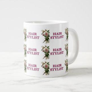 Hair Stylist Rose Large Coffee Mug