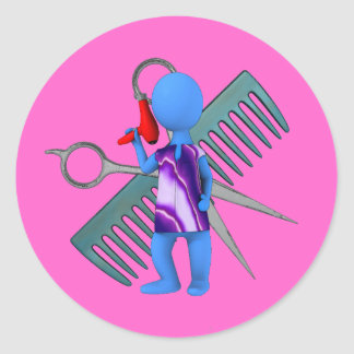 Hair Stylist Round Sticker