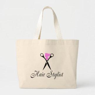 Hair Stylist (Scissors/Pink) Jumbo Tote Bag