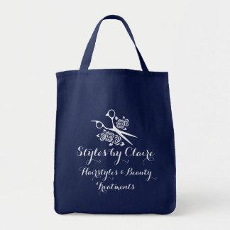 Hair Stylist Scissors Roses Custom Salon Carrying Tote Bag
