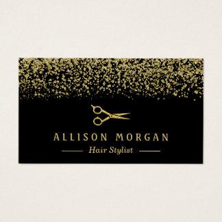 Hair Stylist Scissors Salon Gold Glitter Confetti
