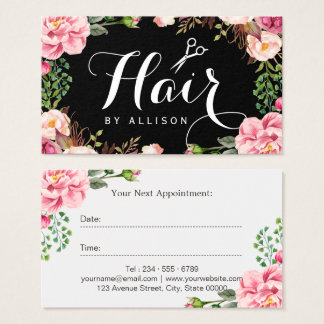 Hair Stylist Script Floral Wrapping Appointment
