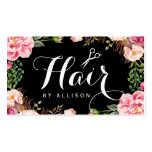 Hair Stylist Script Floral Wrapping Appointment Pack Of Standard Business Cards