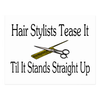 Hair Stylist Tease It Til It Stands Straight Up Postcard