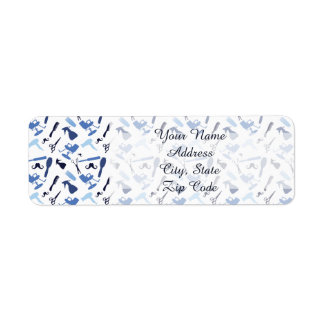 Hair stylist tools pattern return address label