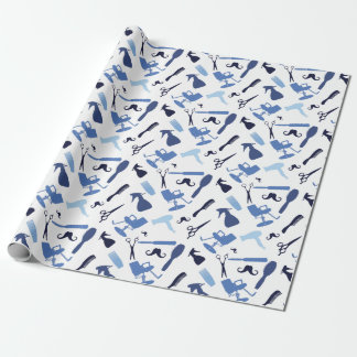 Hair stylist tools pattern wrapping paper