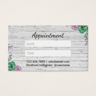 Hair Stylist Vintage Floral Wood Appointment
