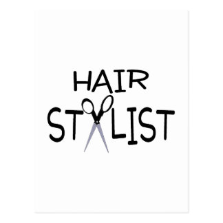 Hair Stylist with Scissors Post Cards