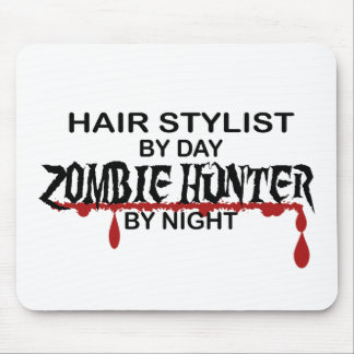 Hair Stylist Zombie Hunter Mouse Pads