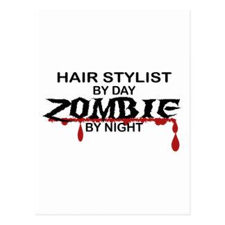 Hair Stylist Zombie Postcard