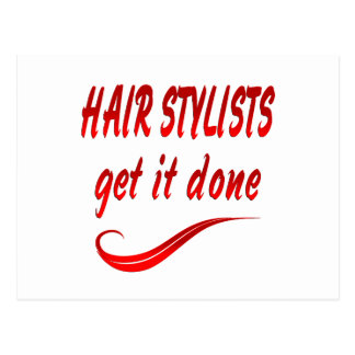 Hair Stylists Get It Done Postcard
