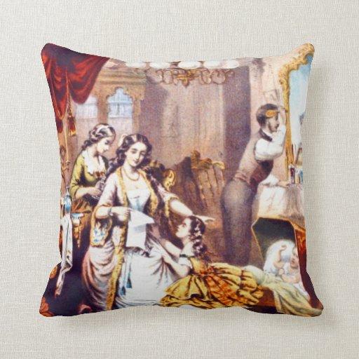 Hair Tonic Advertisement 1860 Pillows