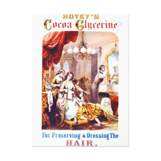 Hair Tonic Advertisement 1860 Gallery Wrap Canvas