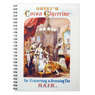 Hair Tonic Advertisement 1860 Note Book