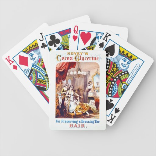 Hair Tonic Advertisement 1860 Poker Deck