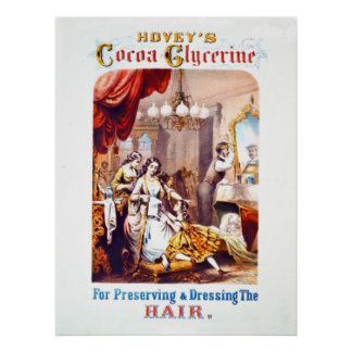 Hair Tonic Advertisement 1860 Poster