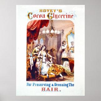 Hair Tonic Advertisement 1860 Print
