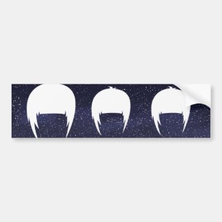 Hair Trims Pictogram Bumper Sticker
