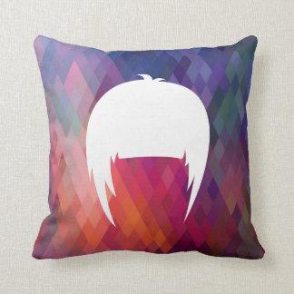 Hair Trims Pictogram Cushion